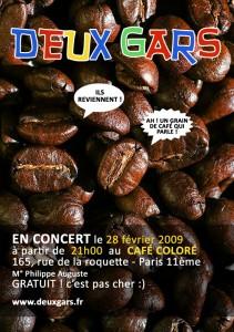 Flyer 28 février 2009 - Café Coloré